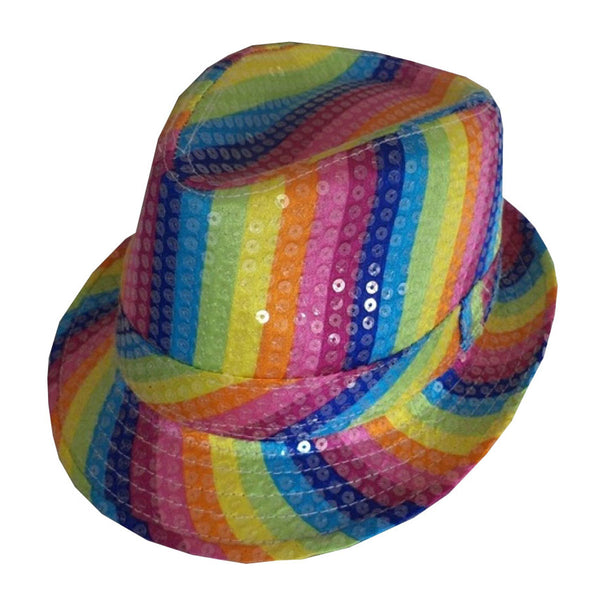 Unisex Gay Pride Rainbow Trilby Hat Party Supply Adults Party Hat Accessories