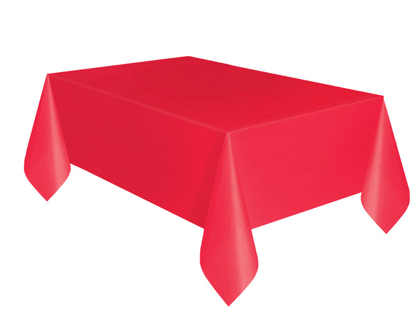 Red Basic Plain Table Cover 54 x 108 Inches