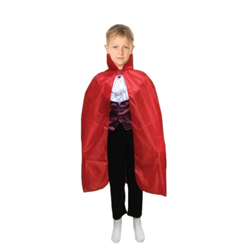 Children Red Halloween Fancy Dress Carded Cape Costume