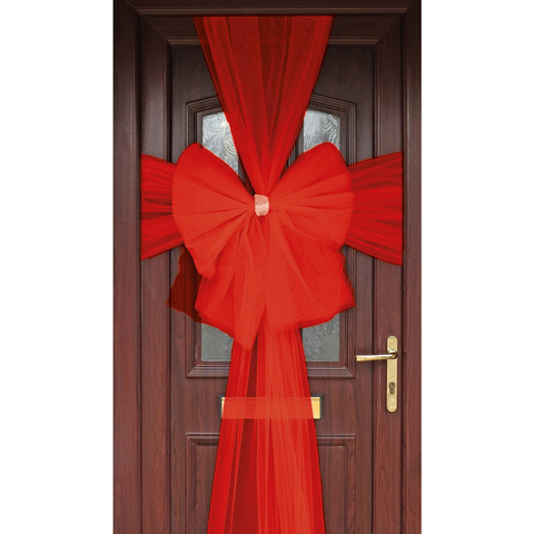 Delux Quality Christmas Red Door Bow