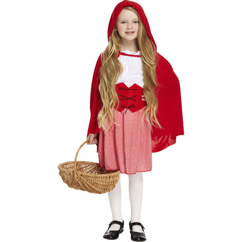 Girls Red Hood Costume Kids Fancy Dress Book Week Outfit
