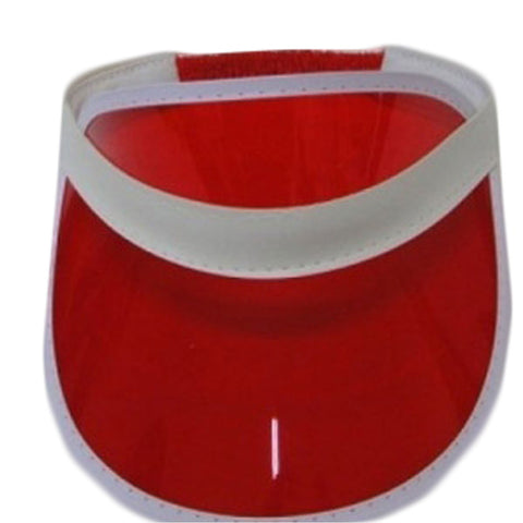 Unisex Red Poker Visor Hat Headband Cap For Golf Tennis Stag Party