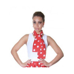 Ladies 1950's Red White Polka Dot 22 Inches Skirt Set