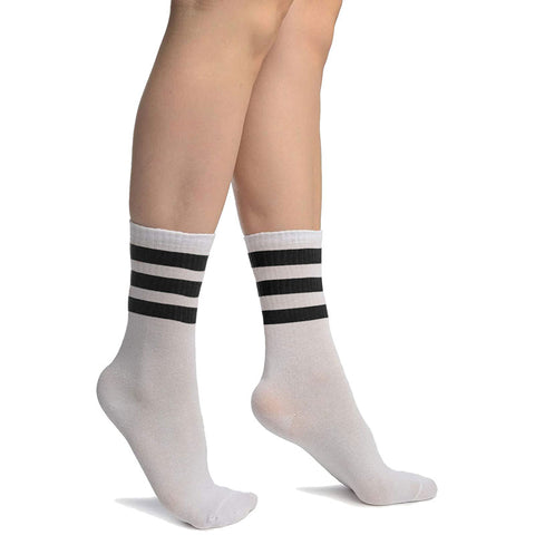 Ladies Referee White Black Ankle Socks UK Size 4-6½ (6 Pairs)