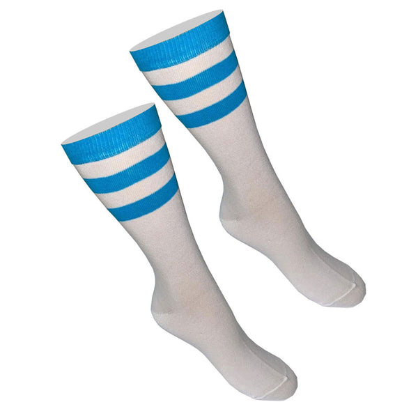 Ladies Referee White Turquoise Ankle Socks UK Size 4-6½ (6 Pairs)
