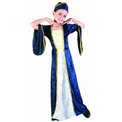 Girls Regal Princess Costume Kids Fancy Dress Book Week Outfit