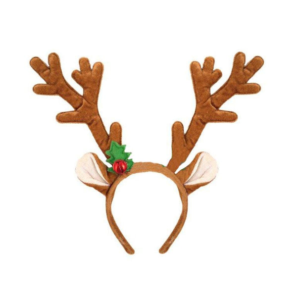 Christmas Reindeer Antlers With Bell Xmas Headband