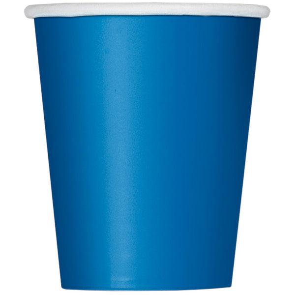 Royal Blue Plain Cups 9 Oz (Pack of 14)