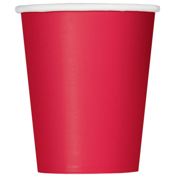 Ruby Red Plain Cups 9 Oz (Pack of 14)