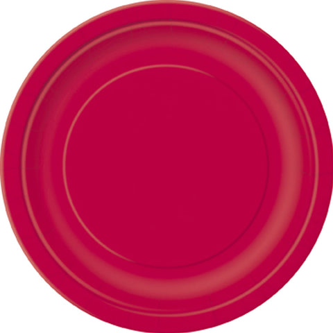Plain Plates Ruby Red 9 Inches (Pack of 16)