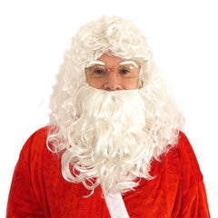 Unisex Santa Wig With Beard Eyebrows Mens Christmas Party Fancy Dress Accessory