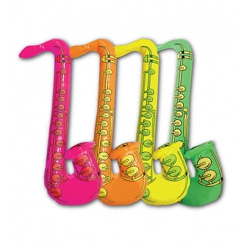 Inflatable Blow Up Saxophone Jazz Music 60s 70s 80s Disco Fancy Dress Party Prop