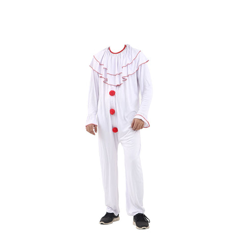 White Boys Scary Clown Costume Kids Halloween Fancy Dress Party Children's Outfit