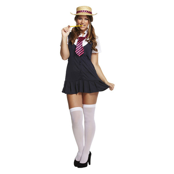 Ladies Sexy School Girl Costume Adult Fancy Dress Womens Outfit