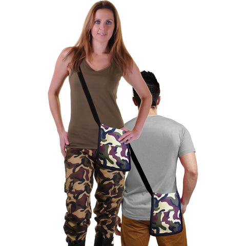 Camouflage Shoulder Bag Pouch Unisex Fancy Dress Accessory