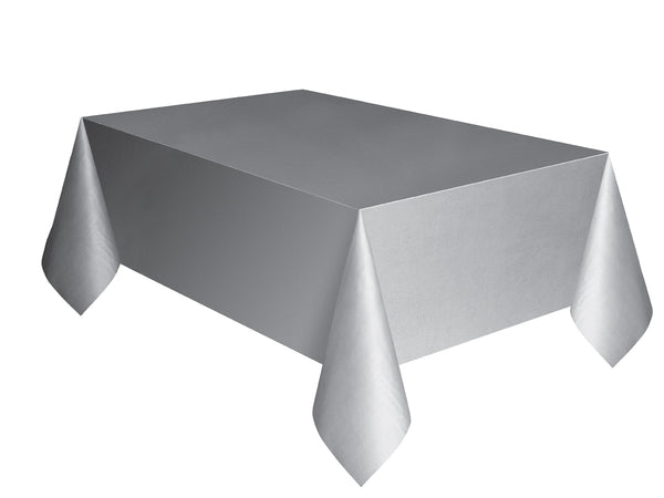 Silver Plain Table Cover 54 x 108 Inches