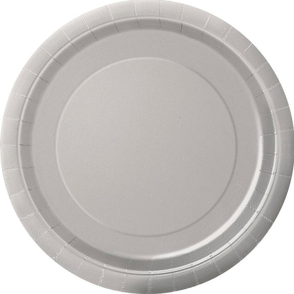 Plain Plates Silver 9 Inches (Pack of 16)