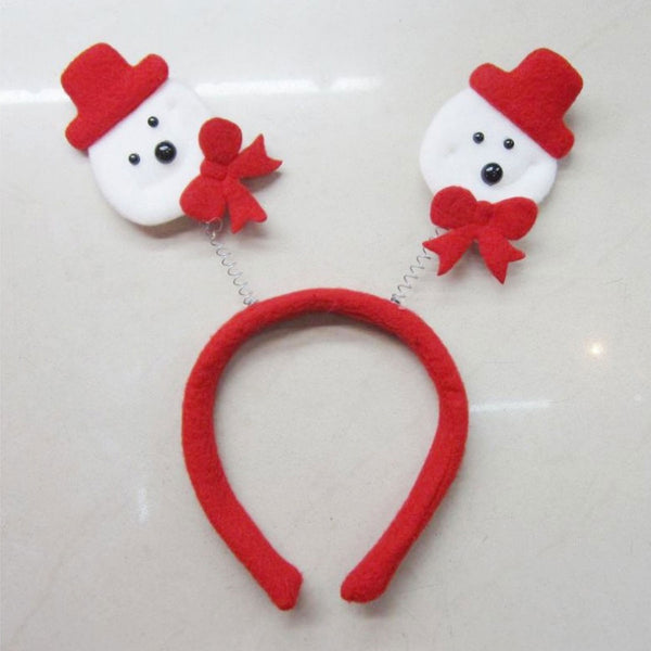 Christmas Snowman Head Boppers Xmas Headband