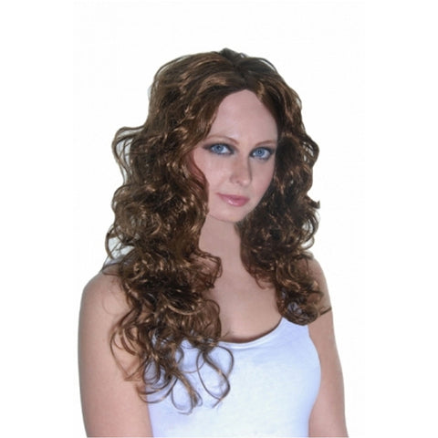 Womens Hollywood Starlet Wig Singer Style Long Curly Wig Fancy Dress Accessory