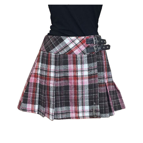 Women's Tartan Kilt Skirt Pleated Check Casual School Skirts