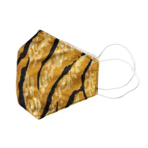 Tiger Print Face Mask With Filter Pocket