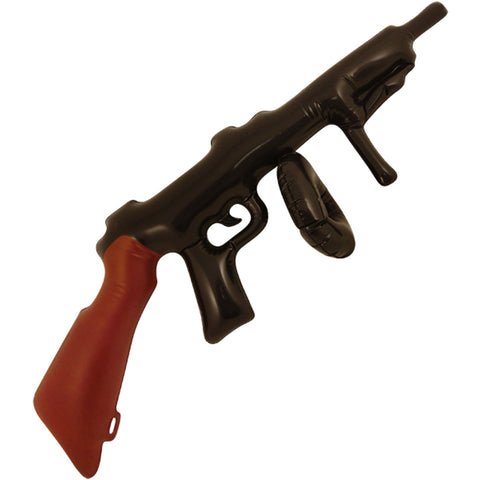 Inflatable Black & Brown 80cm Tommy Machine Gun Gangster Fancy Dress