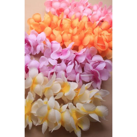 Tonal Fabric Flower Garland Hawaiian Beach Party Accessory