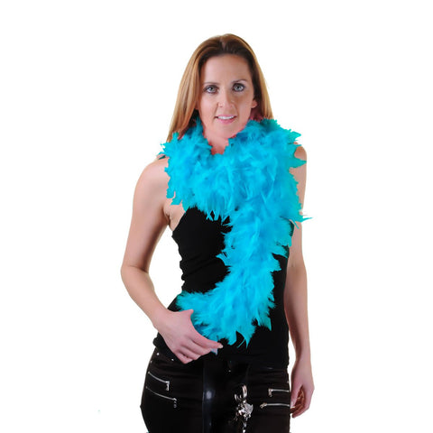 Turquoise Feather Boa Burlesque Dance Fancy Dress Hen Night Accessory Showgirl 150cm