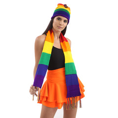 Unisex Adult Gay Pride Rainbow Scarf Fancy Dress Accessory