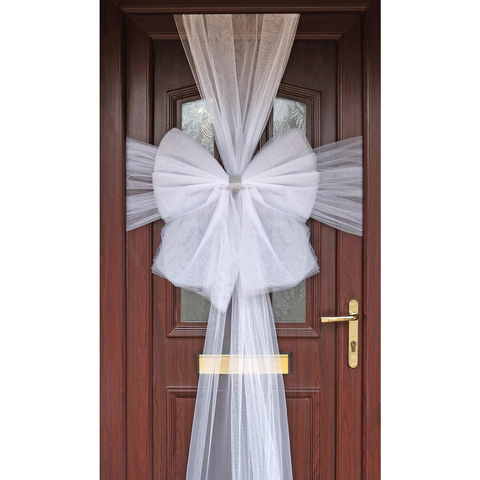 Wicked Fun Luxury White Door Bow