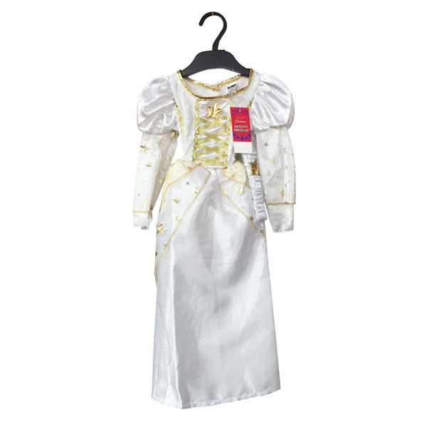 Christmas Child White Angel Gabriel Fancy Dress Costume Nativity Xmas Kids Outfit