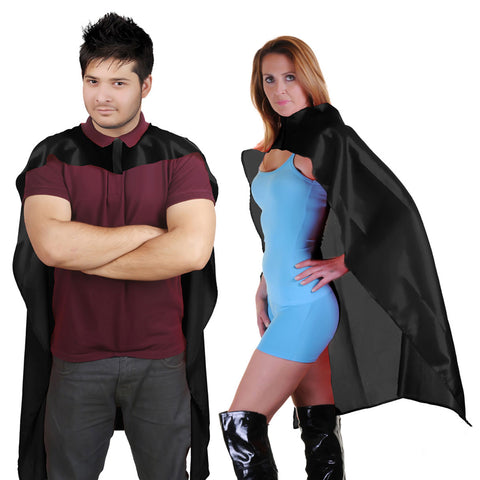 Wicked Fun Adult Black Deluxe Satin Cape