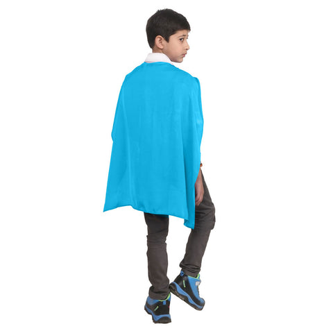 Wicked Fun Children Turquoise Deluxe Satin Cape