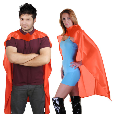 Wicked Fun Adult Orange Deluxe Satin Cape