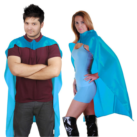 Wicked Fun Adult Turquoise Deluxe Satin Cape