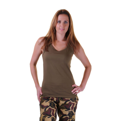 Ladies Plain Green Camouflage Vest Women Fancy Dress