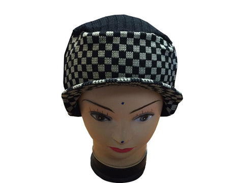 Unisex Knitted Tattoo Hood Rod White Black Beanie Hat