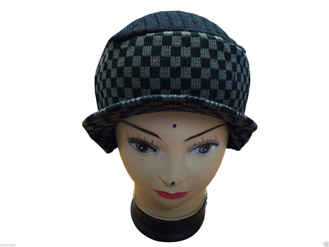 Unisex Knitted Tattoo Hood Rod Grey Black Beanie Hat
