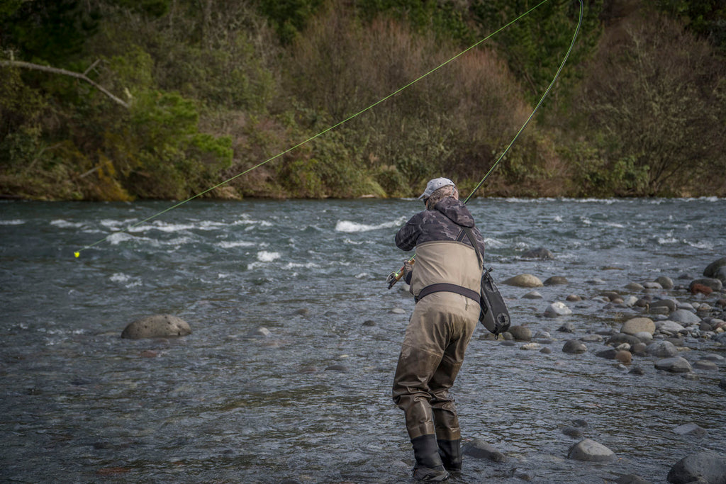 Andrew Harding Hooked Up To A Tongariro Rainbow Trout