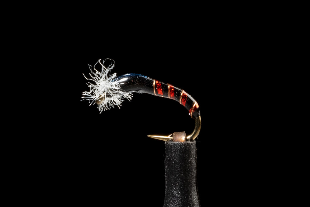 The Red & Black Crystal Chironomid From The Manic Fly Collection