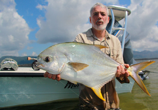 Dave Bradley fly fishign for permit in hinchinbrook