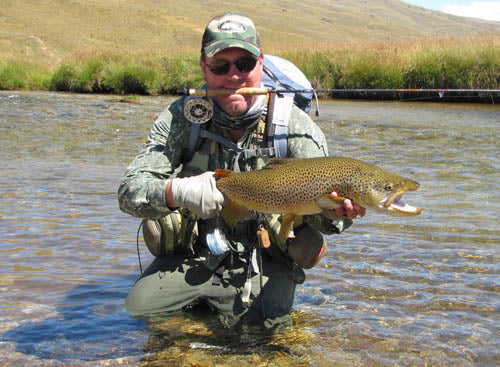 Chris dore, queenstown fly fishing guides, trophy brown trout, nevis, mataura, southland, stu's fly shop,