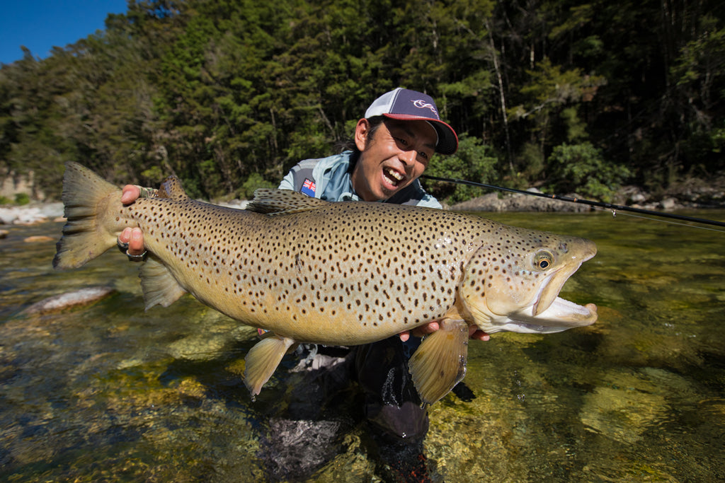 Yoshi With A Trophy Back Country Brown Trout