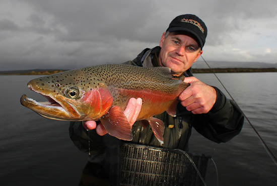 Greig Cousins fly fishing guides, turangi new zealand, north island, lake fishing, stillwater angling, trophy rainbow trout, big fish, brown trout, midge fishing