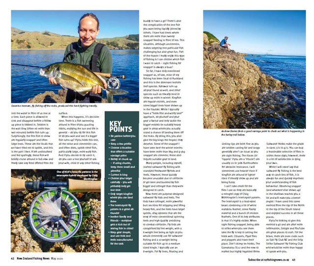 Rod and reel saltwater fly fishing