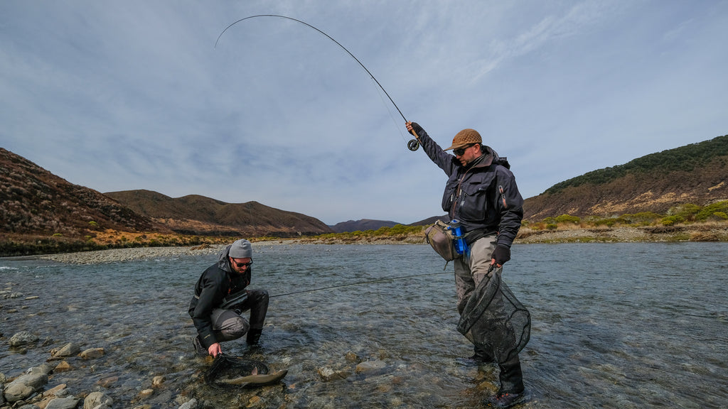 Back country fly fishing success in New Zealand
