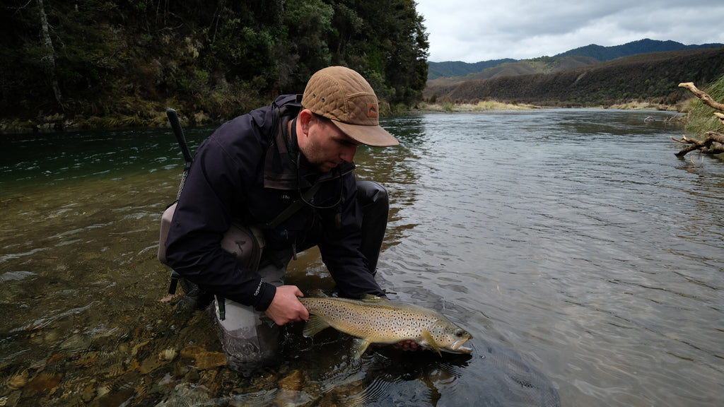 Fly fishing in New Zealand for big brown trout