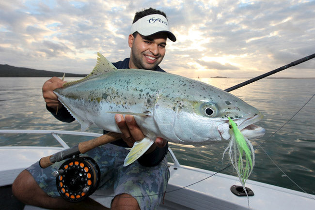 Auckland king fish on fly with Rene Vaz