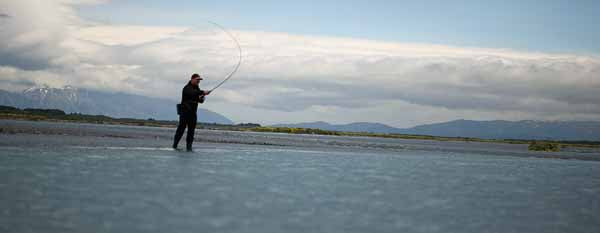 canterbury rivers, south island new zealand sea run trout brown trophy double handed fly rods spey cast