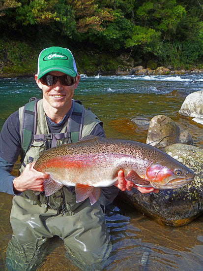 trophy rainbow trout caught in new zealand, big rainbow trout